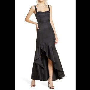 Fame & Partners Black Florence Ruffle Gown Dress 2